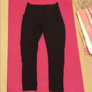 Lululemon smooth runner crop leggings